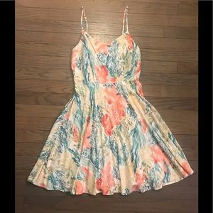 White, Coral, & Green Old Navy Summer Dress